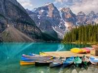 Lake Moraine in Canada. - Lake Moraine in Canada.