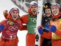 Equipe norueguesa - Equipe e colegas noruegueses de Johansson
