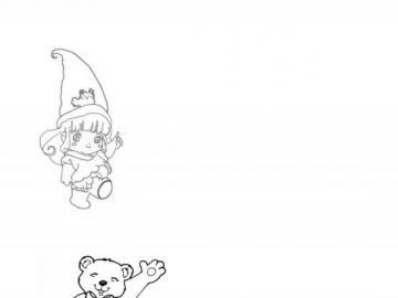 oso para la infancia - Un rompecabezas para proponer al jardín de infancia.