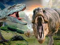 Dreigende dinosauriërs - Dinosaurussen zijn prachtig. Dinosaur dag