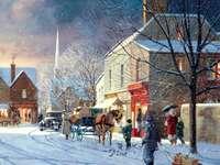 Winter foto. - Landschap. Winter in de stad.