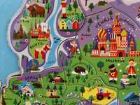 kaart van Europa - Tekening kaart van Europa
