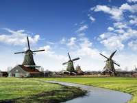 Windmills on the river