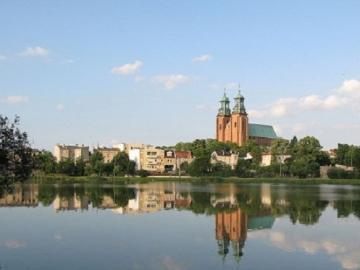 Jezioro Jelonek w Gnieźnie. - Jezioro Jelonek w Gnieźnie.
