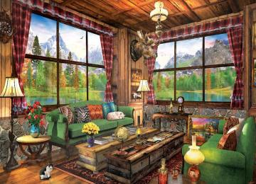 Interior of mountain hut. - The interior of a mountain cottage.