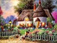 Ένα ζωγραφισμένο σπίτι.