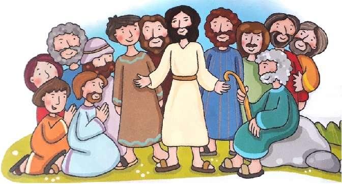 Apostoli - A puzzle a gyermekek előtt áll, és különösen nekik 12 apostolot kell felépíteniük (5×5)