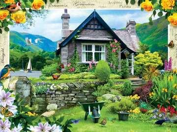 Cottage in riva al lago. - Paesaggio. Casa in riva al lago