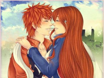 Anime Bleach - Orihime and Ichigo idealna para love