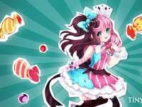 Fata anime - Fata anime. Tapet de fată Anime lună. Imagini de fundal pentru stele Anime Star.