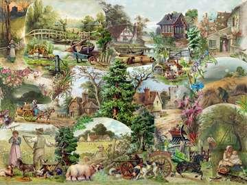 Difficult puzzle. - Landscapes. Difficult puzzle.