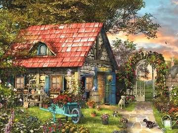 Garden hut.