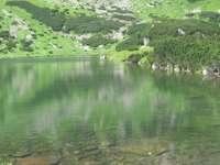 Lagoa Verde - Lagoa verde nas montanhas Tatra