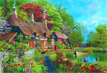 A colorful house.