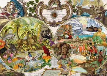 Exotic map of the world. - Exotic map of the world.