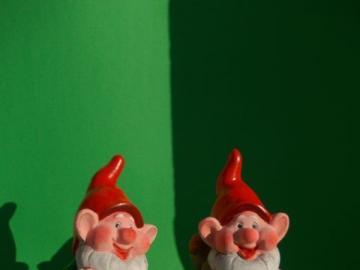 garden gnomes - happy garden gnomes