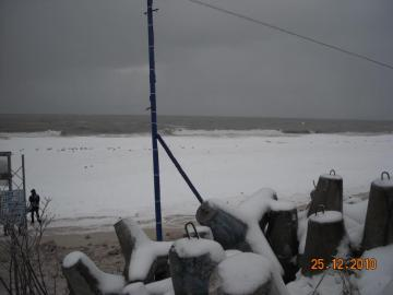 Mielno Bałtyk in the winter - walk on the beach in Mielno in the winter