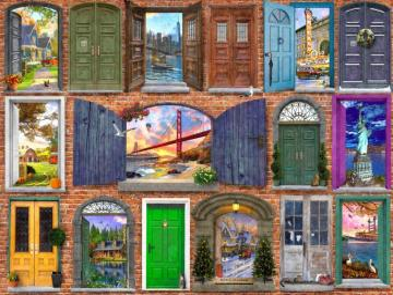 Doors to different worlds. - Doors to different worlds.