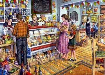 In the shop - illustration in grocery store