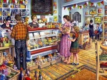 Im Laden - Abbildung im Lebensmittelgeschäft