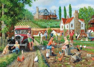 Excavations in the countryside - Excavations on the countryside. Illustration