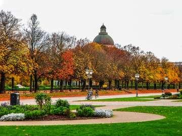 Allemagne. Automne. feuilles d'automne - Paysage. Allemagne. Automne. Feuilles d'automne, feuilles d'automne.