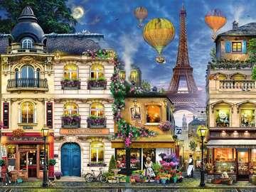 Soirées parisiennes. - Paysage. Soirée paris.