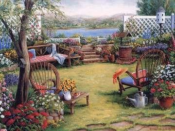 Dans un jardin peint. - Dans un jardin peint.