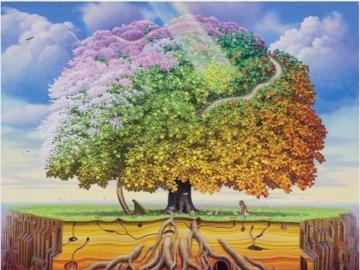 Un arbre de fantaisie. - Paysage. Un arbre de fantaisie.