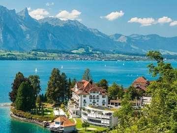 Lac de Thoune. - Suisse. Lac de Thoune.