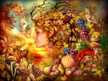 Mrs. Autumn. - Landscape. Mrs. Autumn.
