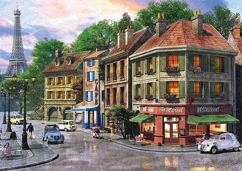 Paris street. jigsaw puzzle