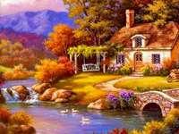 Ένα γραφικό σπίτι δίπλα στο ποτάμι