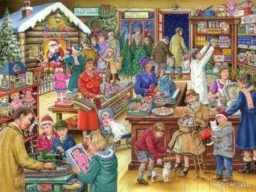 Vorweihnachtliches Einkaufen - Weihnachtsmarkt Abbildung