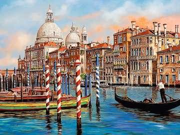 Italy. Venice. - Europe. Italy. Venice. Puzzle: Venetian buildings. Venetian buildings.