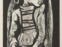 """Tadeusz Kulisiewicz - Karol - Puzzel uit het werk van Tadeusz Kulisiewicz """"Karol"""" uit 1935"""