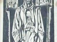Un santo del portfolio V3 di S - Puzzle di xilografia Tadeusz Kulisiewicz