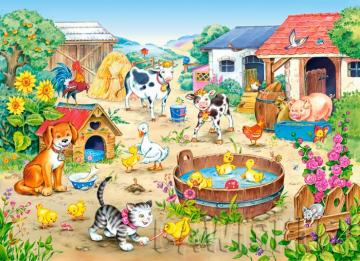 Happy animals. - Happy farm animals.