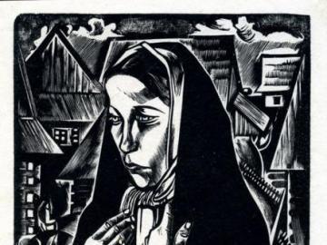 """Das Mädchen in einer schwarzen - Tadeusz Kulisiewicz """"Ein Mädchen in einem schwarzen Schal"""" 1928-1930"""