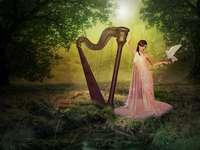 Harpa magică - Fantasy. Peisaje de poveste. Czarodziejska Harfa.