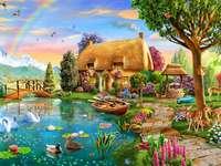 Cottage aus einem Märchen.