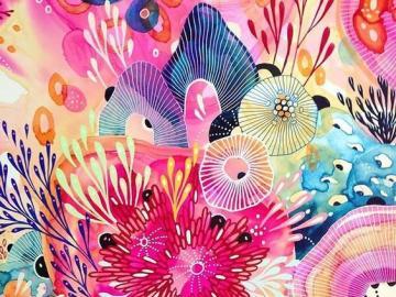 Quebra-cabeça colorido - Quebra-cabeça colorido, abstração