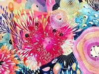Kleurrijke puzzel - Kleurrijke puzzel, abstractie