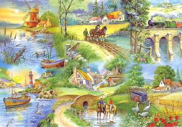 Engelska landskap - Pussel. Pussel. Engelsk ritning (11×10)