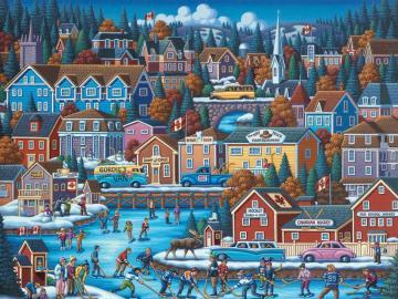 Zimowa Kanada. - Trudne puzzle. Zimowa Kanada.