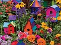 Birdhouses.