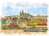 Praha. Πανόραμα της πόλης.