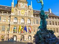 Brabofontein - A szökőkút az Antwerpen főterén