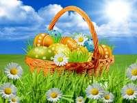 Húsvéti tojás a kosárba