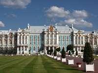 Rusia. Tsarskoye Selo. - Paisaje. Rusia. Tsarskoye Selo. Un edificio en rusia. Tsarskoye Selo. Tsarskoye Selo.